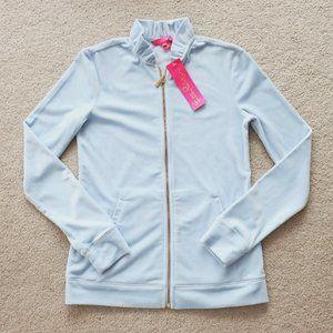 LILLY PULITZER Jayla Velour Jacket Baby Blue XXS